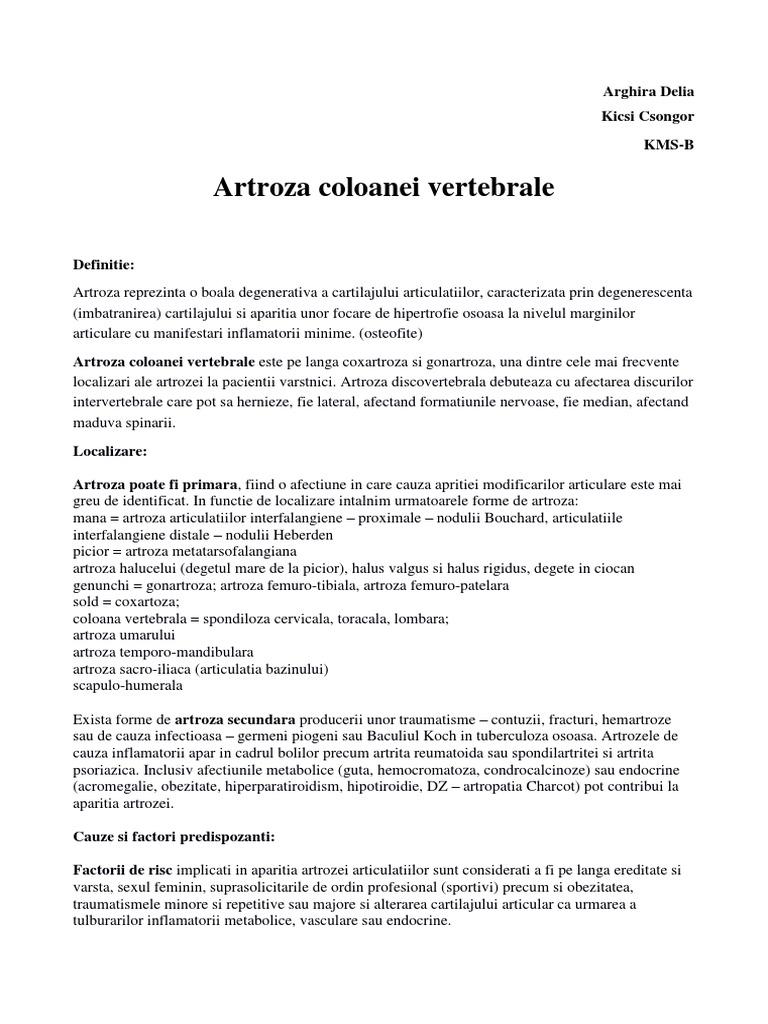 Artroza articulațiilor arcuite ce este. Glanda pituitara