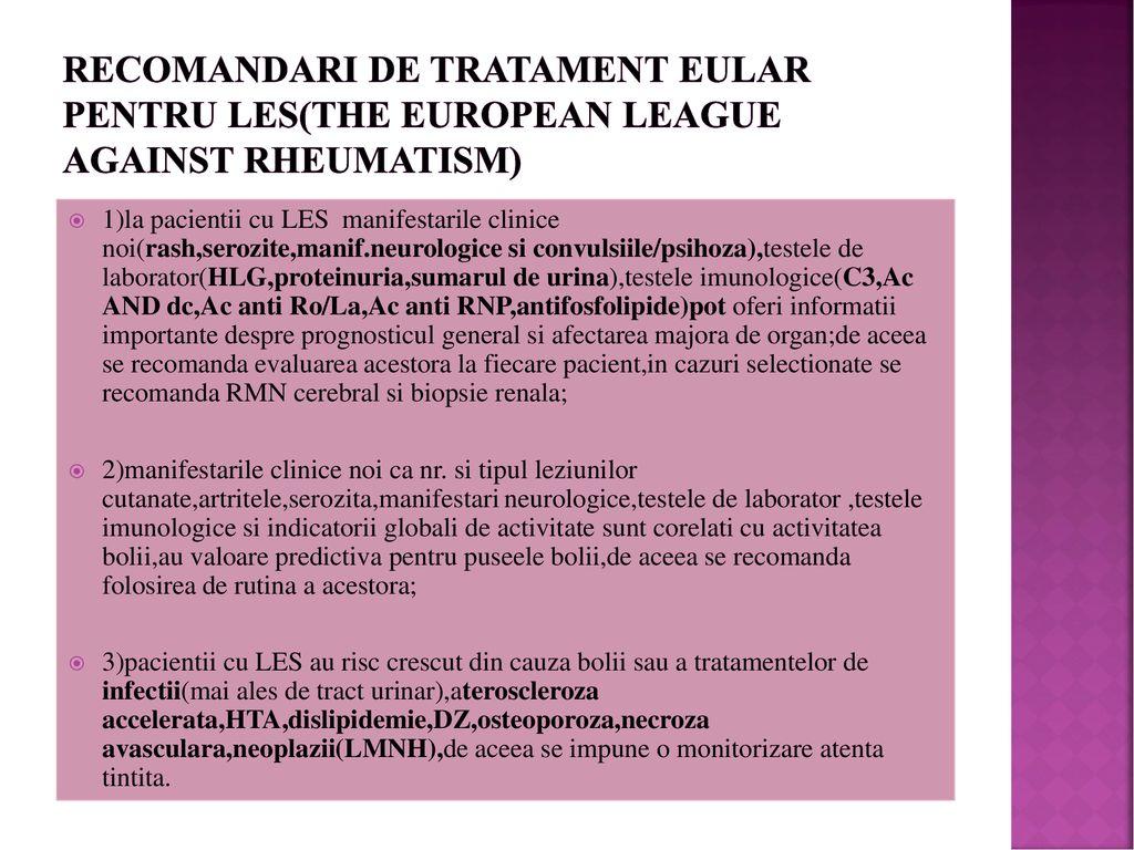 tratament comun pentru LES