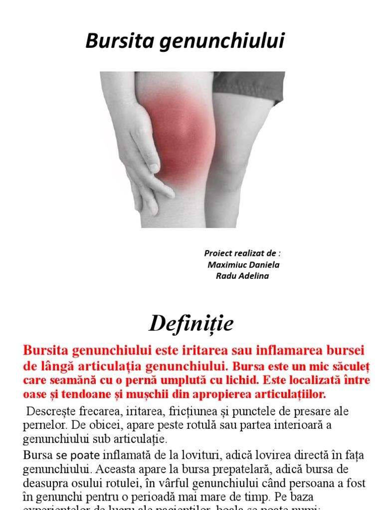 tratați bursita genunchiului prepararea articulației cu condroxid