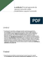 osteocondroza istoricului cazului articulației umărului tratamentul artrozei deformate