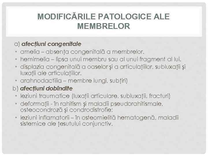 boli congenitale ale oaselor și țesutului conjunctiv tratamentul picioarelor plate cu artroză