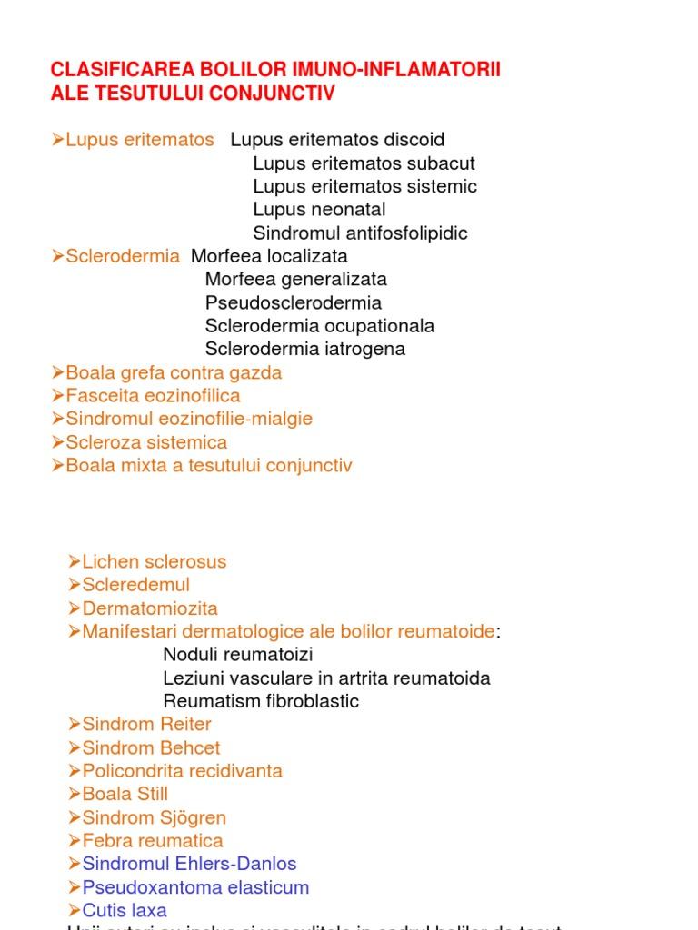 boli ale țesutului conjunctiv dermatologie